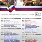 Program návštevy Svätého Otca Františka na Slovensku